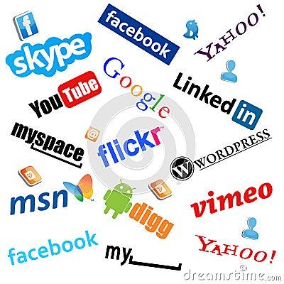 Social media icons Editorial Photography