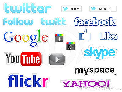 Social media icons Editorial Stock Image