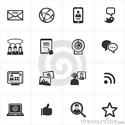 Free Social Media Icons Royalty Free Stock Photography - 25327127