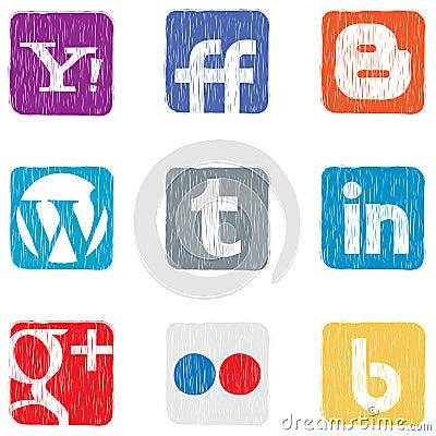 Social media icons Editorial Photo