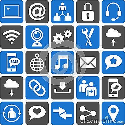 Free Social Media Icons Royalty Free Stock Photo - 29521115