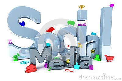 Social media with icons
