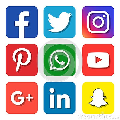 Social media icons Vector Illustration