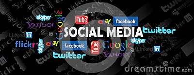 Social media icons Editorial Stock Photo