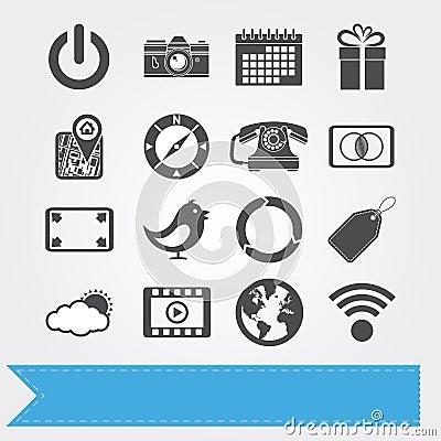 Social media icons set 3