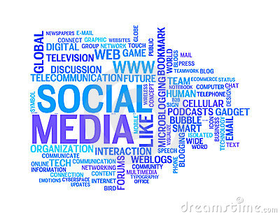 Social media info-text graphics word clouds