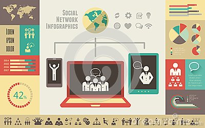 Social Media Infographic Template. Stock Photos - Image: 36487083