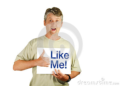 The social media Like Me Man (PNG file available)