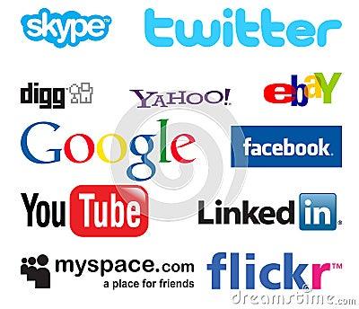 Social media logos Editorial Photography