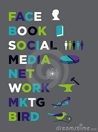Social Media Marketing icons Editorial Stock Image