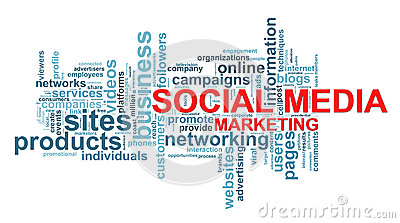 Social media marketing word tags