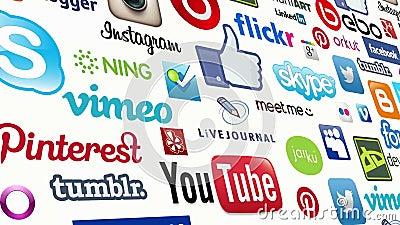 Social Media-nahtlose Schleife