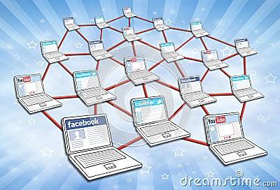 Social Media Network Editorial Stock Photo