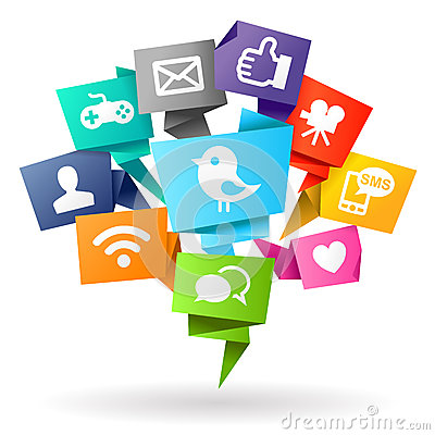 Free Social Media Origami Stock Photography - 39522042