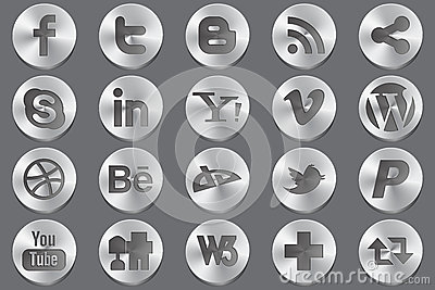 Social media oval icons Editorial Photo