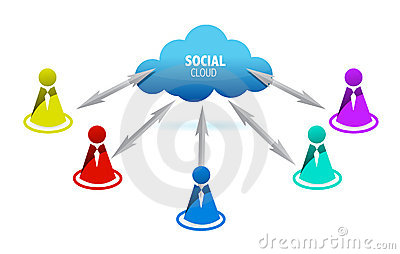 Social media people symbols connect