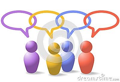 Social media people symbols network link chain