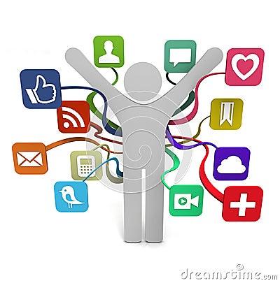 Social Media Sharing Editorial Photo
