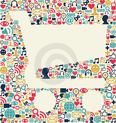 Social media shopping cart texture