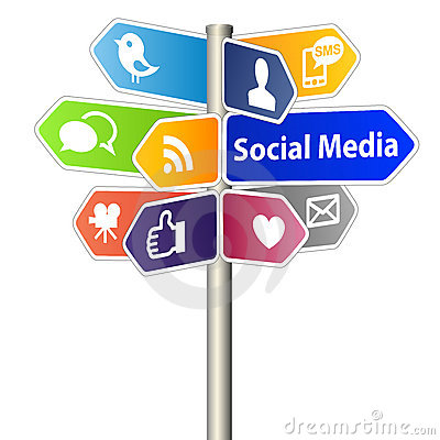 Free Social Media Sign Stock Photo - 22634580