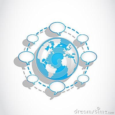 Social media speech bubbles connections