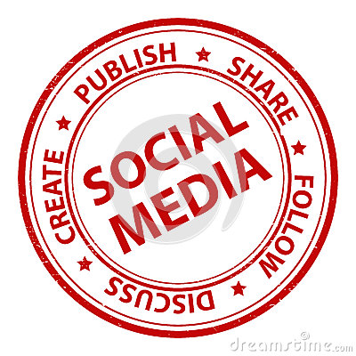 Free Social Media Stamp Stock Images - 45631684