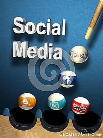 Social media Editorial Image