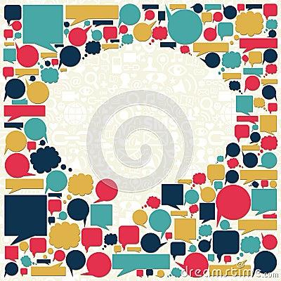 Social media talk bubble texture