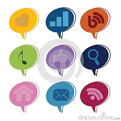 Social media text box