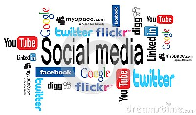 Social media word cloud Editorial Photography