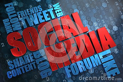 Social Media. Wordcloud Concept.