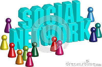 Social network 3d
