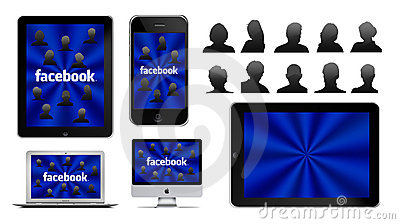 Social network on Apple Editorial Stock Photo