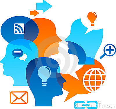 Free Social Network Backgound With Media Icons Royalty Free Stock Photos - 19657278