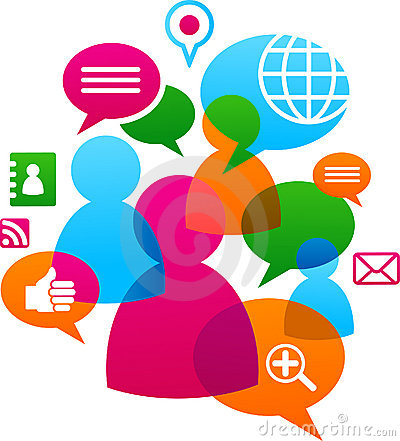 Free Social Network Backgound With Media Icons Royalty Free Stock Photo - 19657295