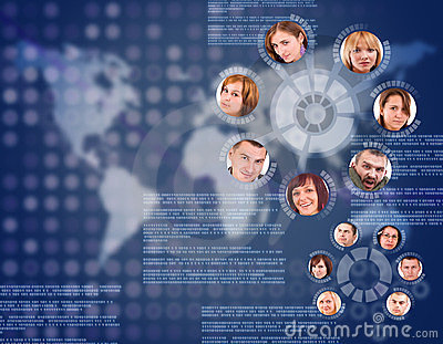 Social network circle