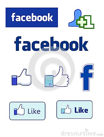 Social Network Facebook Editorial Stock Image