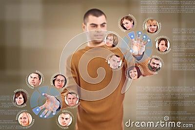 Social network friends circle