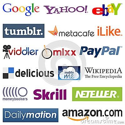 Social Network Logos [2] Editorial Photo
