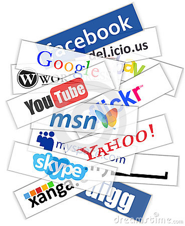 Social network logos Editorial Image