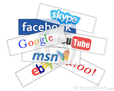 Social network logos Editorial Stock Photo