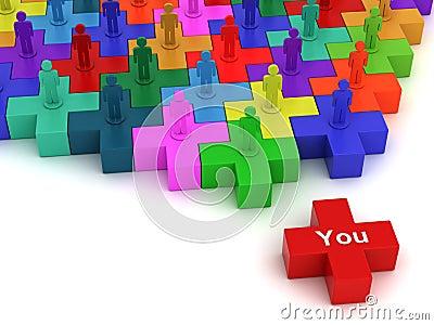 Social network plus concept