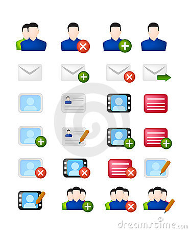 Social network vector icon set