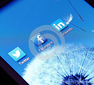 Social networking apps Editorial Stock Photo