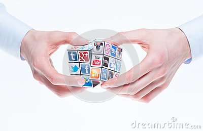 Social networking concept Editorial Image