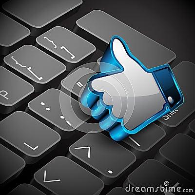 Social networking, keyboard or keypad Editorial Stock Photo