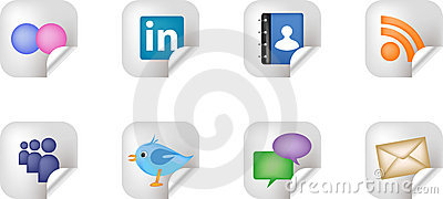 Social Networking Media Stickers Editorial Photo