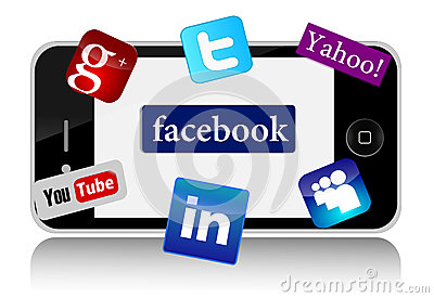 Social Networks Editorial Image