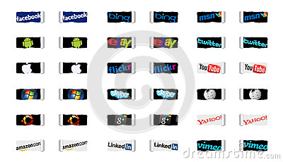 Social networks and internet technology Editorial Photography