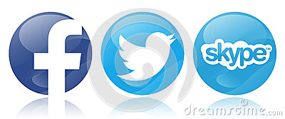 Social networks Editorial Stock Image
